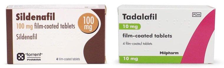 Sildenafil und Tadalafil