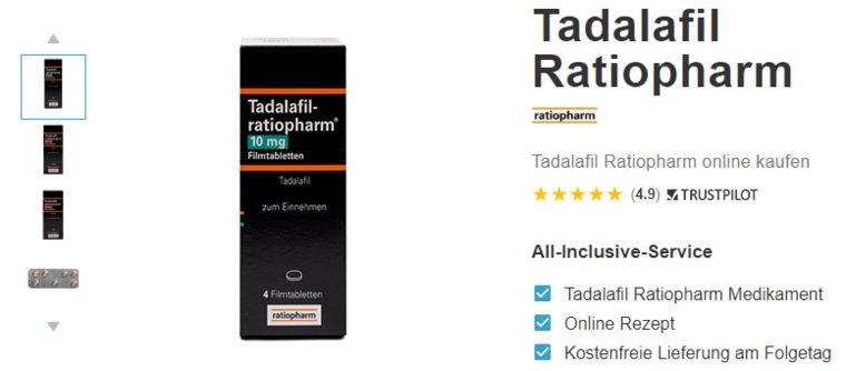 Tadalafil ratiopharm kaufen